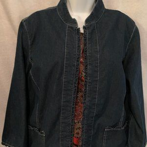 Alfred Dunner Size 16 Jean Jacket